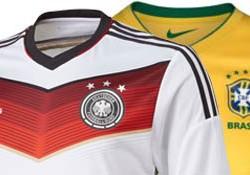 FIFA WK Voetbal 2014 Halve Finale: Opstelling Brazilië & Duitsland