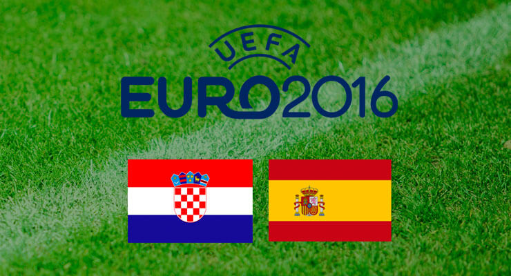 UEFA Euro 2016: Kroatie - Spanje