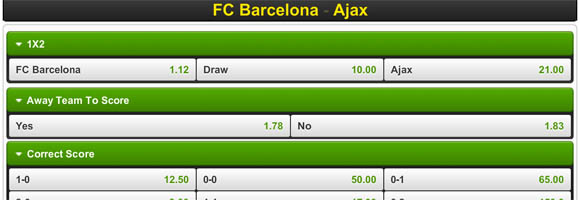 FC Barcelona - Ajax © Nieuwslog - Unibet