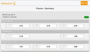 Wat voorspellen de bookmakers over Frankrijk - Duitsland?