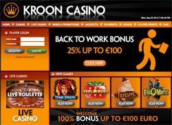 Back to Work bonus bij Kroon Casino