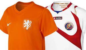 De eerste kwartfinale wordt Nederland - Costa Rica.