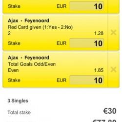 Eredivisie: sluit nu weddenschappen af op Ajax-Feyenoord