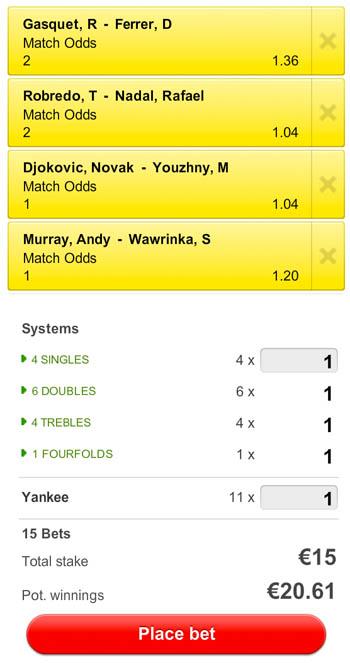 Kijk kwartfinales US Open live bij Unibet: Ferrer, Nadal, Djokovic, Murray