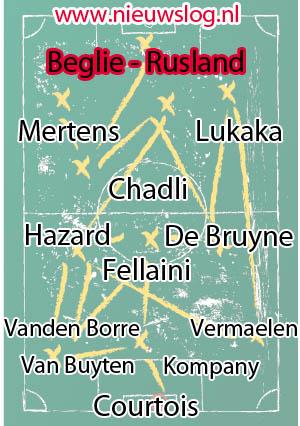 De definitieve opstelling van België is bekend.