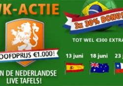 Iedere Nederlandse WK wedstrijd een bonus in het Blauw Casino