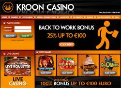 Back to Work bonus bij Kroon Casino
