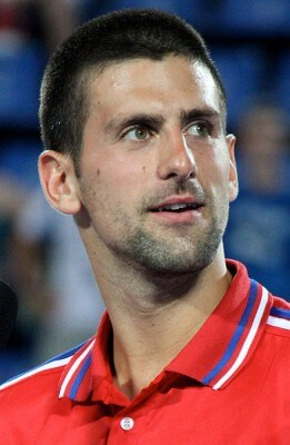 Novak Djokovic © by Spekoek (on Wikipedia), licensed under the Creative Commons Attribution-Share Alike 3.0 Unported license