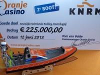Oranje Casino doneert tweede reddingsboot aan de KNRM