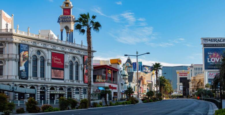 De Las Vegas Strip is leeg dankzij het coronavirus