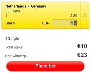 EK hockey  Nederland - Duitsland