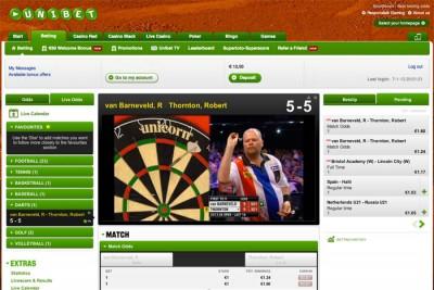 Kijk gratis via internet naar de kwart finales darts van Van Gerwen en Van Barneveld