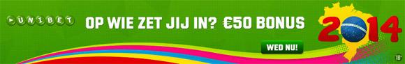 50 euro bonus bij Unibet
